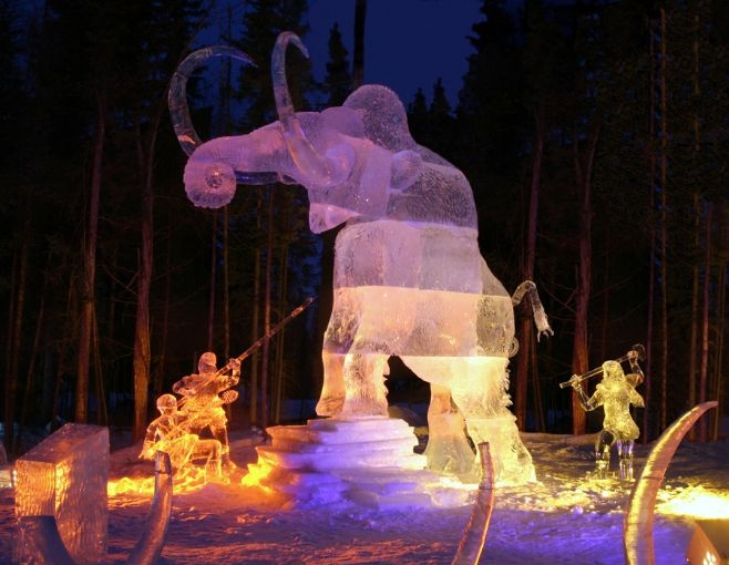 Mammoth Hunters - from 2004 International Ice Carving Championships, Fairbanks Alaska